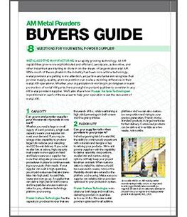 AM Metal Powders Buyers Guide